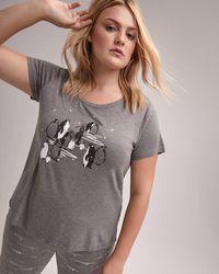Addition Elle - Scoop-neck Pajama T-shirt - Déesse Collection - Lyst