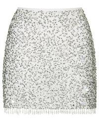 Topshop Crystal Sequin Pelmet Skirt - Lyst