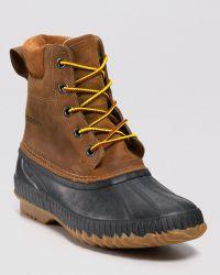 Sorel Cheyanne Lace Full Grain Leather Waterproof Boots brown - Lyst