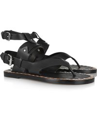 Isabel Marant Justy Studded Leather Sandals - Lyst