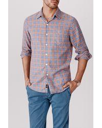 Faherty Brand Dawn Patrol Shirt orange - Lyst