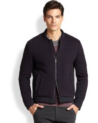 Armani Chevron Quilted Jacket - Lyst