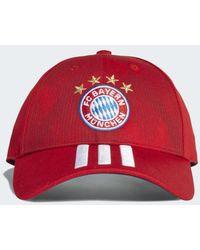 adidas - Fc Bayern 3-stripes Hat - Lyst