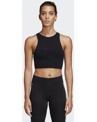3a6046938417 adidas Originals. Trefoil Tank Top Black.  32. Footshop · adidas - Warp  Knit Crop Top - Lyst