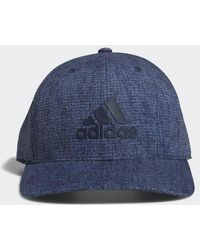 7bc7d8290c1 Lyst - Adidas Heathered Snapback Hat in Blue for Men