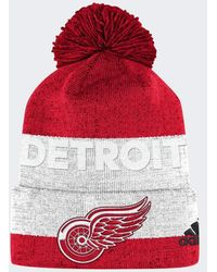adidas - Red Wings Team Cuffed Pom Beanie - Lyst