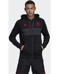 free shipping ef08b fa67b adidas Originals - Manchester United Hoodie - Lyst