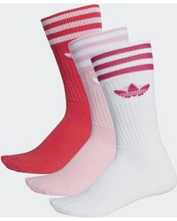 adidas - Crew Socks 3 Pairs - Lyst