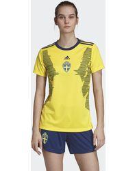 1237ef252e1 adidas 2018-19 Sweden Home Shirt (toivonen 20) - Kids Women's T ...