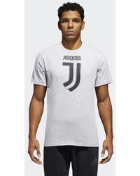 adidas - Juventus Brushed Stripes Tee - Lyst