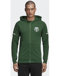 adidas - Portland Timbers Travel Jacket - Lyst