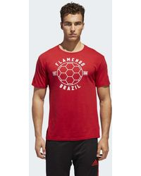 adidas - Cr Flamengo Linear Icon Tee - Lyst