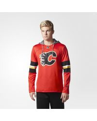 adidas - Flames Jersey Replica Pullover Hoodie - Lyst
