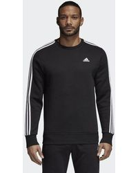 adidas - Essentials 3-stripes Crew Sweatshirt - Lyst