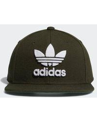 20a9e19230b Lyst - adidas Originals Trefoil Chain Snapback Hat in Green for Men