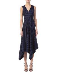 Derek Lam - Sleeveless Dress With Asymmetric Hem - Lyst