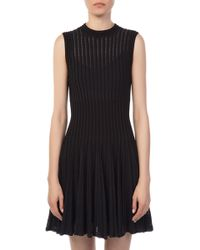 Theory - Knit Novelty Checker Dress - Lyst