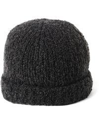 Vince - Marl Beanie Dark Gray Hat - Lyst
