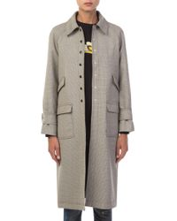 ALEXACHUNG - Chesterfield Black And White Coat - Lyst