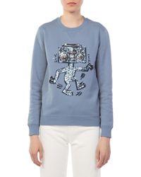 COACH - Coach X Keith Haring Blue Sweatshirt - Lyst