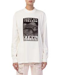 Alexander Wang - White Vinyl Meltdown Sweatshirt - Lyst