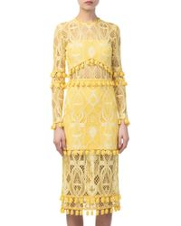 Alexis - Callie Embroidered Yellow Dress - Lyst