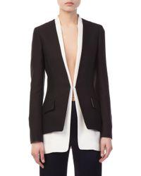 Derek Lam - Bicolored Collarless Tailored Jacket - Lyst