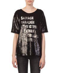 Each x Other - Written Black T-shirt - Lyst