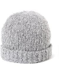 Vince - Marl Beanie Light Grey Hat - Lyst