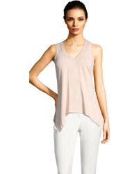 Adrianna Papell | Sleeveless Hanky Top With Embroidered V-neck Petite-regular | Lyst