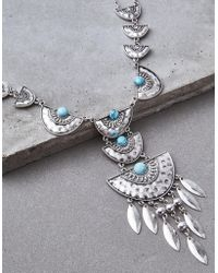 American Eagle - Silver Western Statement Necklace - Lyst