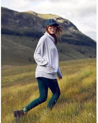 62fbc26ecdb Lyst - Athleta Eco Wash Turtleneck Sweatshirt Dress