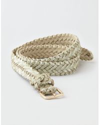 American Eagle - Metallic Braided Belt - Lyst