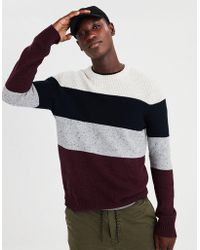 American Eagle - Ae Colorblock Crewneck Sweater - Lyst