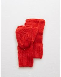 American Eagle - Cable Knit Convertible Mittens - Lyst