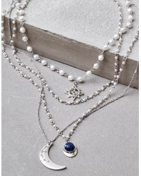 American Eagle - Silver Pearl Long Layering Necklace - Lyst