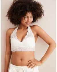 5e2e29f50d379 American Eagle - Wildflower Lace Padded Halter Bralette - Lyst