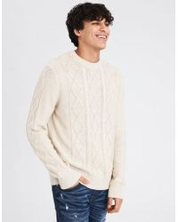 American Eagle - Ae Cable Crewneck Sweater - Lyst