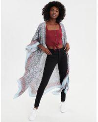 American Eagle - Ditsy Floral Maxi Kimono - Lyst