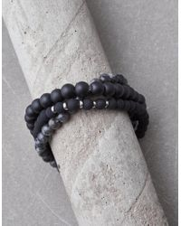 American Eagle - Black Bead Bracelet Set - Lyst
