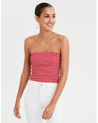 7c6d8c2ae93 Recently sold out. American Eagle - Striped Smocked Tube Top - Lyst