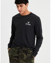 American Eagle - Ae Long Sleeve Graphic Tee - Lyst