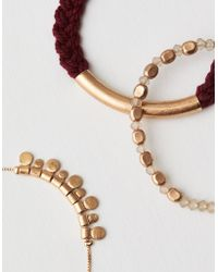 American Eagle - Gold And Red Arm Party - Lyst