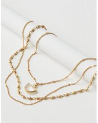 American Eagle - Short Layered Clear Crystal Necklace - Lyst