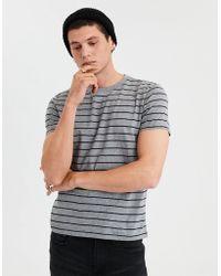1678e6b2133e Lyst - American Eagle Ae Striped Crew Neck T-shirt in Gray for Men