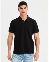American Eagle - Ae Logo Brushed Pique Polo Shirt - Lyst