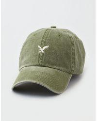 American Eagle - Ae Washed Twill Logo Hat - Lyst