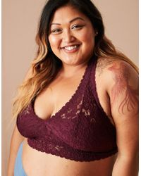American Eagle - Softest® Lace Halter Bralette - Lyst