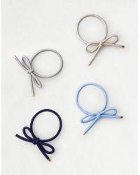 American Eagle - Bow Hair Tie 4-pack - Lyst