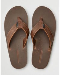 American Eagle - Leather Flip Flop - Lyst